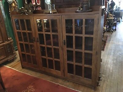 L&jG Stickley Three Door Bookcase Three Door Modern
