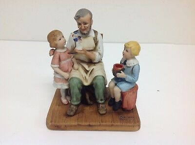 1979 The Toy Maker by Norman Rockwell Porcelain Figurine 5""