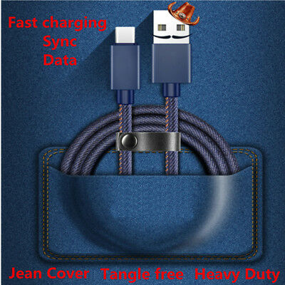 3FT High-quality Jean Fast Charging Sync&Data Charge Cable Andriod/iPhone/Type-c