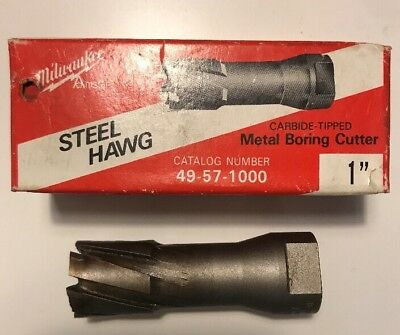 "Milwaukee Steel Hawg 1"" Carbide-tipped Metal Boring Cutter 49-57-1000"
