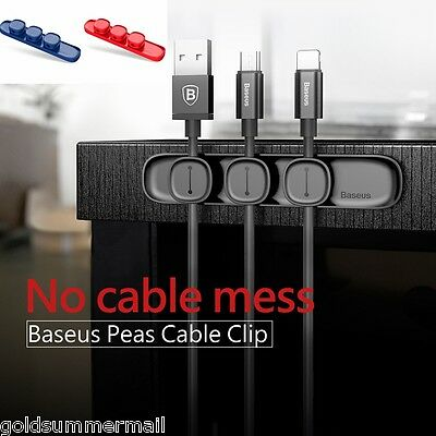 Baseus Peas Data Cable Clip USB Magnet Organizer Charger Wire Holder Phone Acc