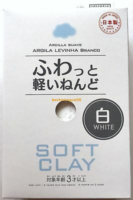F/S Daiso Soft Clay White Colour Color Handmade DIY Arcilla Suave MADE IN JAPAN