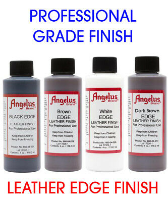 LEATHER EDGE FINISH FOR PROFESSIONAL USE 118.2 ml MADE BY ANGELUS