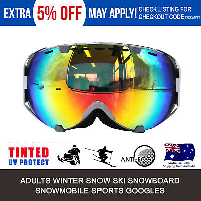 Pro Snow Ski Snowboarding White Goggles ind Double Lens Anti UV400 Dust Surfing