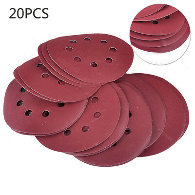 20x 400-1000 Grit Hook Loop Pads Sanding Disc Mixed Sandpaper Sheet 8 hole Stock