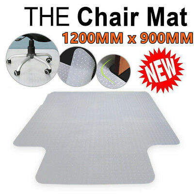 900*1200MM Chair Floor Mat Home Office Studded Back with lip for pile Carpet