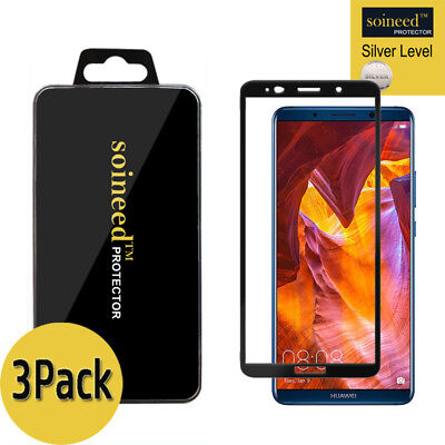 [3-Pack] SOINEED Huawei Mate 10 Pro FULL COVER Tempered Glass Screen Protector
