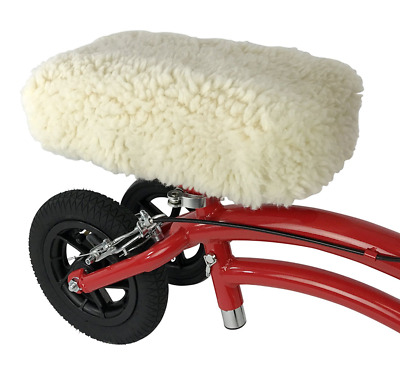 Universal Knee Walker Rest Pad Cover Plush Synthetic Sheepette Rolling Scooter