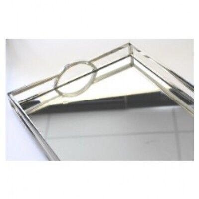 NEW Flair Arch Silver Mirror Rectangle Tray - Large