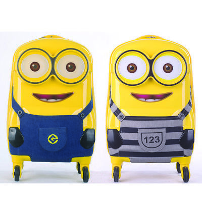Despicable Me Minions ABS Luggage Trolley Spinner Carryon Suitcase Travel Bag 18