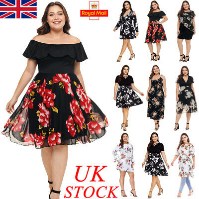 Plus Size Uk Womens Ladies Formal Dress Ball Gown Party Evening Prom Cocktail