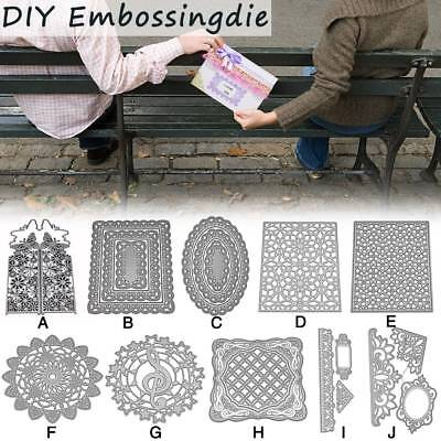 Metal Cutting Dies Stencil Floral Frame Paper Card Embossing Craft DIY Die-Cut
