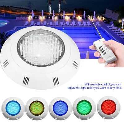 12V 24W LED RGB Underwater Swimming Pool Light Wall Mounted W/ Remote Control HB