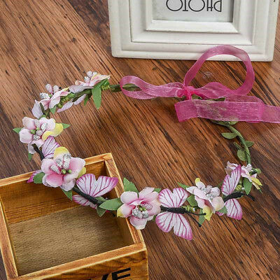Women's Butterfly Flower Headbands Hairband Ribbon Bridal Hair Accessories Party