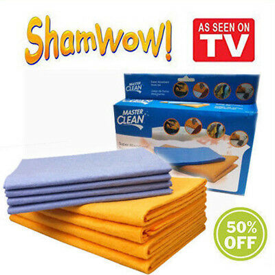 8-Piece WOW Set Super Sham-Wow Shammys Super Absorbent Towels AS SEEN