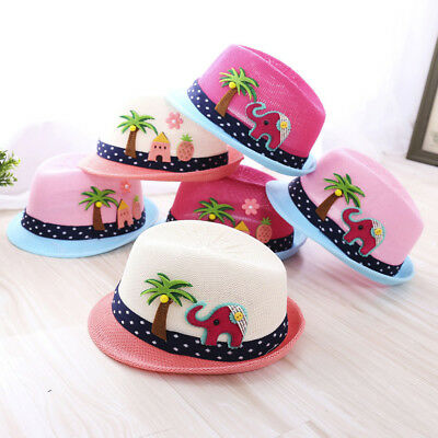 Summer Baby Boy Girl Hat Beach Sun Cap Children Breathable Hat Show Kids Caps 9