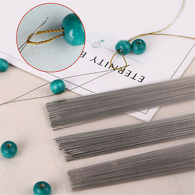 6pcs Big Eye Curved Beading Needles Easy Thread Jewellery Craft Tools DIY ST
