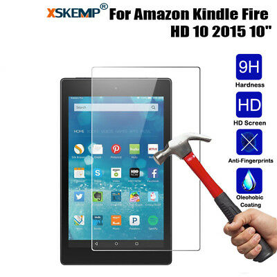 Genuine Tempered Glass Guard Screen Protector For Amazon Kindle fire 7/HD 8/HD10