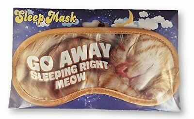 Go Away Sleeping Right Meow Novelty Sleeping Mask for Travel or Home Cat Themed