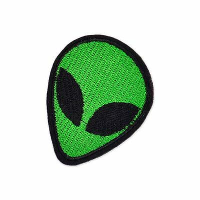 Alien Head Ufo Patch Embroidery Extra Terrestrial Applique Badge Sew