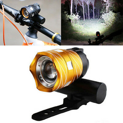 USB Rechargeable XML T6 LED Bicycle Bike Front Light Cycling Head Lamp +Band Lot