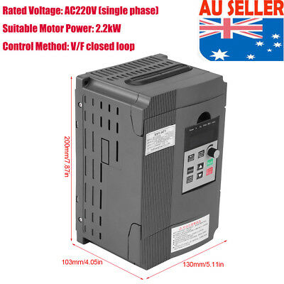 2.2Kw 3Hp 10A 220Vac Single Phase Variable Frequency Drive Inverter Vsd Vfd Eb