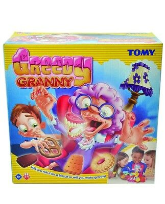 1,E4 TOMY Greedy Granny Children's Preschool Action Game 2-4P Sneak Biscuit Away
