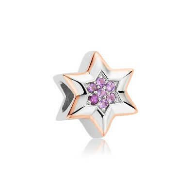 NEW Official Clogau Gold Silver & Rose Gold Amethyst Star Bead Charm £20 off!