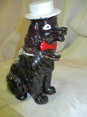 Vintage Napco Figurine Poodle with Hat
