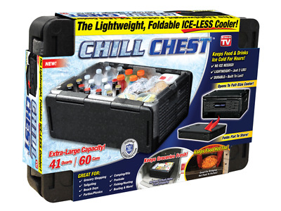 As Seen on TV* Chill Chest Lightweight Portable and Collapsible Ice-Free Cooler