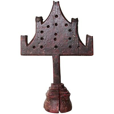 Original and Rare 14th/15th Century Gothic Wooden Candelabra