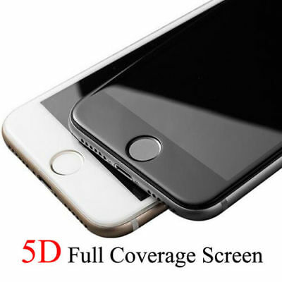 For iPhone 8 PLUS 5D Curved Edge Tempered Glass Film Full Screen Protector CLEAR