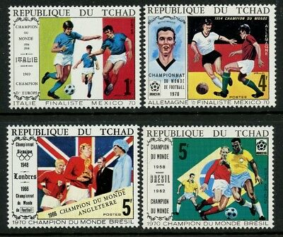World Cup Soccer Mexico 1970 set of 4 mnh stamps Chad #227A-D football