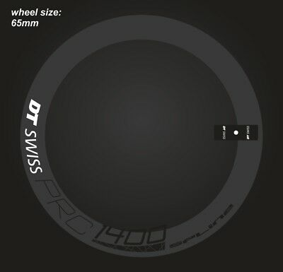 DT SWISS PRC 1400 RIM DECAL SETS for two wheels 65mm