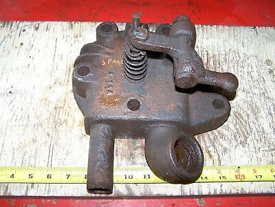 Old SPARTA ECONOMY Hit Miss Gas Engine Cylinder HEAD Magneto Ignitor Oiler WOW!