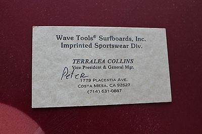 Vintage surfing kaluna hawaii sportswear 60s kapaia kauai 2x3in vintage surfing wave tools surfboards sportswear collins 2x3in business card reheart Image collections