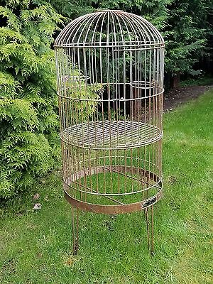 ANTIQUE HENDRYX Style VINTAGE Industrial Huge Dome Top BIRD CAGE RARE Barber Co