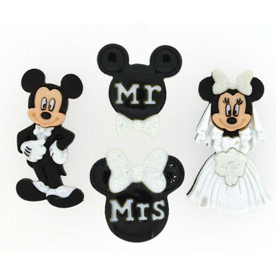 Mickey & Minnie Mouse Wedding Buttons - Disney Wedding Favors - Disney Buttons