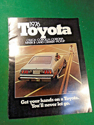 1976 TOYOTA FULL LINE 12 page BROCHURE - NOS - FREE POSTAGE  (10278)
