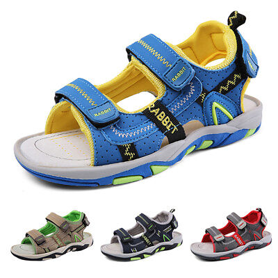 Summer Boys Girls Sports Sandals Casual PU Leather Flat Shoes Youth for Kids
