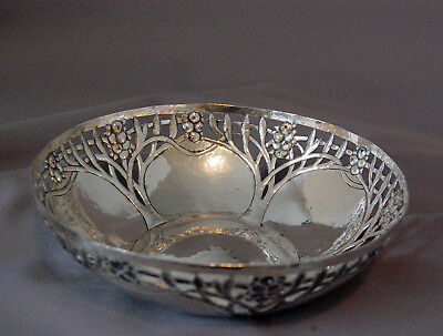 Arts and Crafts C. R. Ashbee Hammered Silver BOWL Table Basket Domed Fruit
