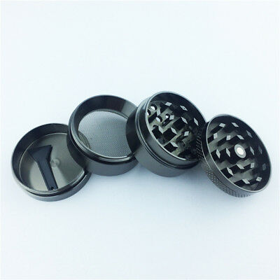 4 Layers Magnetic 1.57 Inch Black Tobacco Herb Grinder Spice Aluminum With Scoop