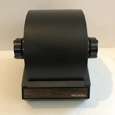 Vintage Rolodex Rotary Black Metal Card File Round 5350 - Free Shipping