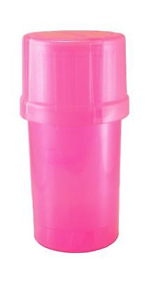 MedTainer Storage Container w/ Built-In Grinder - Pink 1