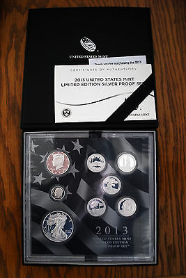 2013 United States Mint Limited Edition Silver Proof Set.  AA-AA