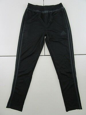 Adidas Youth Unisex Athletic Pants Black With Gray Stripes Size Xl #a503