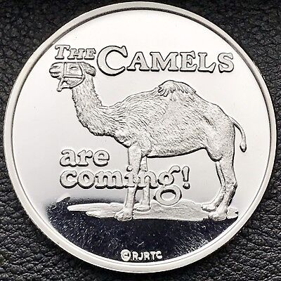 Camel Cigarettes The Camels Are Coming W/COA 1oz .999 Fine Silver Round (8973)