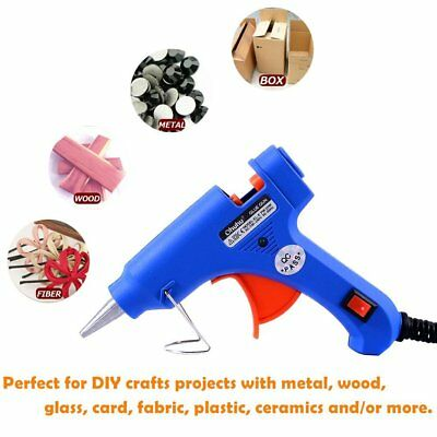 Hot Melt Glue Gun +26 Refill Sticks DIY Easy Quick Repair Kit Design Art Crafts