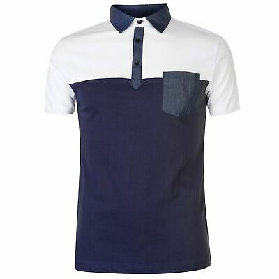 Pierre Cardin Uomo Colour Block Polo T-Shirt Maglietta classica