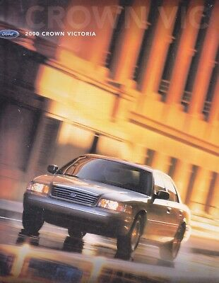 2000 Ford  Crown Victoria Factory  Sales Brochure   16 Page Foldout Makes Poster